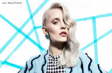 Contemporary 80s Editorials - Design Scene's Silverline Image Series is Captured by Marta Macha