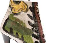 Wearable Art Heels - Burberry Prorsum's Hand Painted Ankle Boots are Artfully Modern