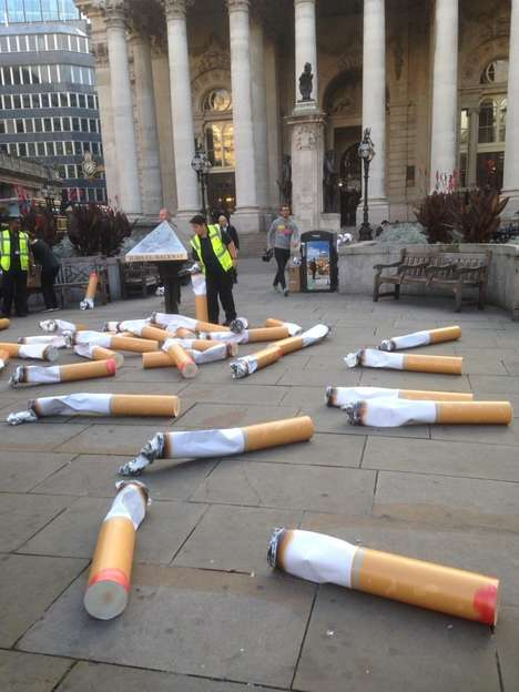Giant Cigarette Installations - Keep Britain Tidy's Littering Campaign Scales Up Cigarette Butts