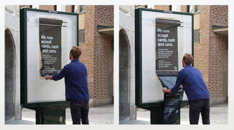Can Currency Campaigns - McDonald's Stockholm Lets Youth Trade in Bags of Recycled Cans For Burgers