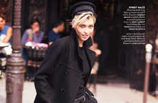Boyish Parisian Editorials - Vogue Thailand's Paris C'est Chic! Story Highlights Couture Staples
