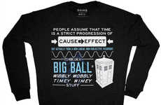 Time Travelling Sweaters - This TARDIS Doctor Who Crewneck Explains the Phenomenon of Space Travel