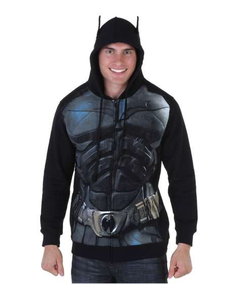 Superhero Bodybuilding Sweaters - This Dark Knight Hoodie Makes You Look as Buff as Batman