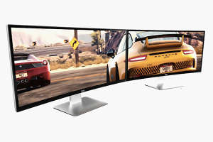 Curved Computer Monitors - The New Dell Computer Screens are Bent for Better Gaming