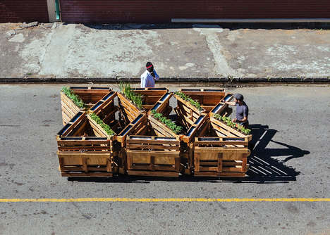 Interlocking Mobile Benches - 'Brothers in Benches' is a Series of Benches Placed in Johannesburg