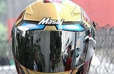 Superhero Motorcycle Helmets - Look Like Iron Man When You Ride With this Hero Helmet Design