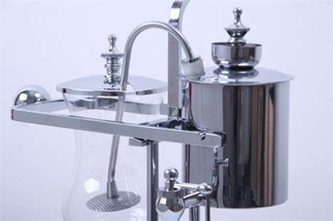Antiquated Coffee Brewers - This Balancing Siphon Coffee Maker is Luxuriously Whimsical
