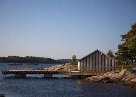 Repurposed Norwegian Dormitories - Snohetta Revived a Wooden Boathouse for Summer Camp