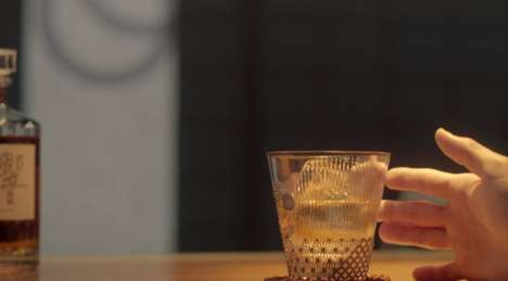 Interactive Whiskey Glasses - Suntory's Hibiki Whiskey Glass Enhances the Drinking Experience