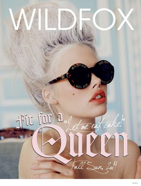 Sensual Victorian Sunglasses - The Latest Wildfox Lookbook is Inspired by Marie Antoinette