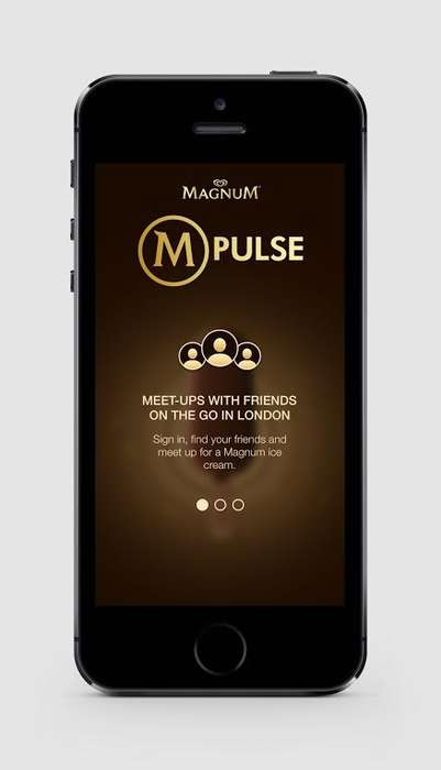 Ice Cream Social Apps - Magnum's M-Pulse App Locates Nearby Treats with Beacon Technology