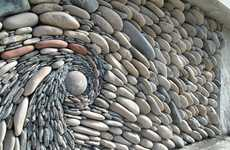 Swirling Rock Walls - Artists Andreas Kunert and Naomi Zettl Create Stony Murals