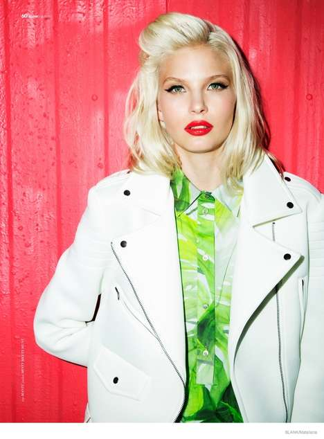 Colorful 80s Fashion - Anna Piirainen Channels Her Inner Debbie Harry for Blank Magazine