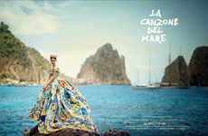 Regal Paradise Editorials - The Dolce & Gabbana Vogue Japan Photoshoot is Full of Elegance and Color
