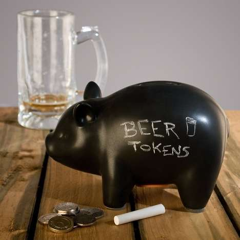 Chalkboard Piggy Banks - This Adorable and Creative Piece Makes Saving Money More Fun