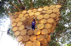 Bamboo-Weaved Treehouses