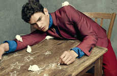 Pest-Covered Model Photography - Men's Uno's Arthur Gosse Exclusive Features Mice and Toads