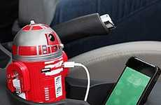 Galactic Character Chargers - This R2-D9 Smartphone Car Charger is Ideal for Powering Up On-the-Go