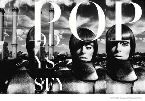 Dramatic 60s Editorials - The Latest Issue of L'officiel Singapore Stars Top Model Coco Rocha