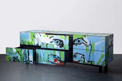 Graffiti-Facade Furniture - The Street Capture Project Repurposes Graffiti as Furniture Facades