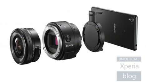 DSLR Smartphone Acessories - The Sony ILCE-QX1 Turns Your Smartphone into a High Tech Camera
