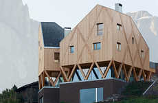 Diverging Wood Abodes - MoDus Architects Builds a House for an Artist in Italy