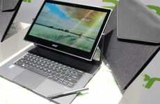 Elegant Pivoting Laptops - The Acer Aspire R-Series Machines Pivot Between Laptop and Tablet Modes