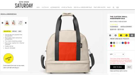 Bespoke Bag Platforms - The Kate Spade Saturday Website Lets Users Design Their Own Weekender Bag