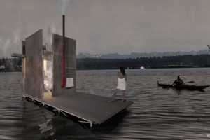 This Floating Sauna is Small Enough to Be Transportable by Road