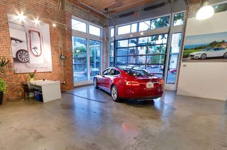 Virtual Car Showrooms - Tesla's Car Showroom Can Now Be Browsed on Google Streetview