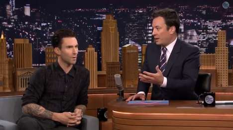 Musical Celebrity Impressions - The Adam Levine Jimmy Fallon Appearance Involved Random Song Covers