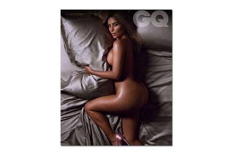 Seductive Celebratory Editorials - GQ's Woman of the Year is Kim Kardashian