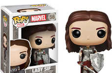 Cinematic Superhero Bobbleheads - This Lady Sir Figurine Celebrates the Female Characters from Thor