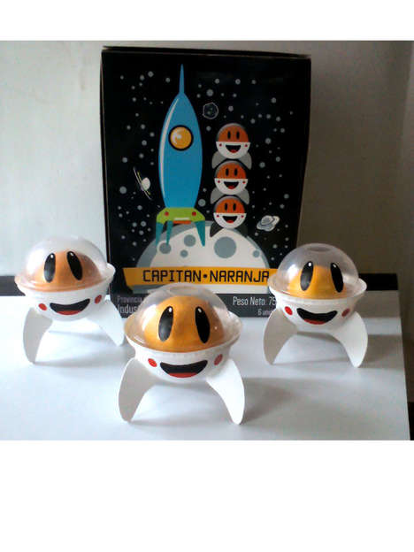 Spacey Orange Packaging - Captain Orange is a Fun Fruit Container Design that Appeals to Kids