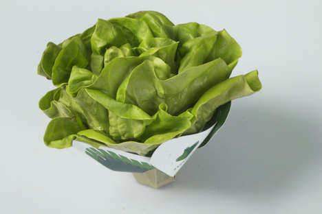 Biodegradable Lettuce Packaging - This Lettuce Packaging Uses Vegetable Inks & Sugar-Based Materials