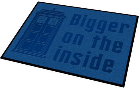 Time Machine Doormats - This Police Phone Box TARDIS Mat Lets Guests Know You're a Fan of Doctor Who