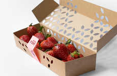 Elegant Berry Boxes - Sunrise's Eco Berry Box Design Can Be Constructed Without Glue