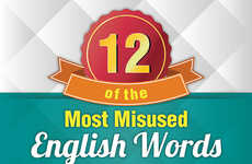Improper Language Charts - This Infographic Lists the Most Frequently Misused English Words