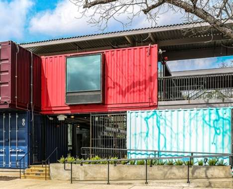 38 Re-Purposed Shipping Containers
