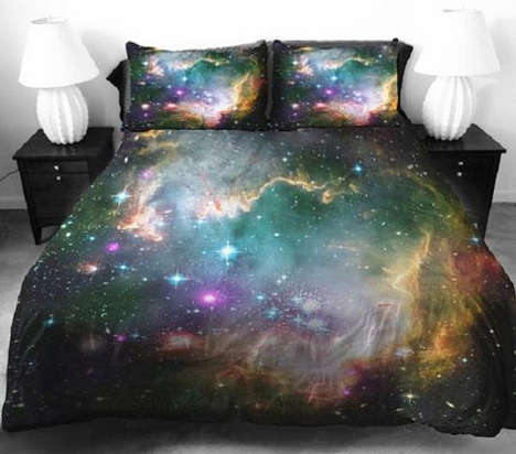 Celestial Galaxy Bedsheets - Transport Your Bedroom into the Universe with this Space Bedding Print