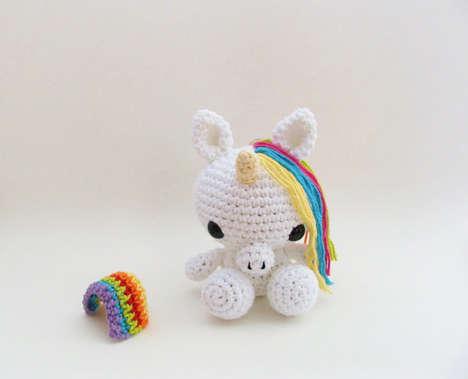 Adorable Amigurumi Animals - Etsy Shop LittleBittyKnitter Creates Cute Crocheted Craft Toys