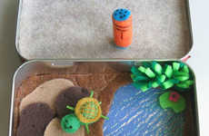 Upcycled Mint Tin Toys - Etsy User WishWithMe Turns Altoid Tins into Toys with Felt