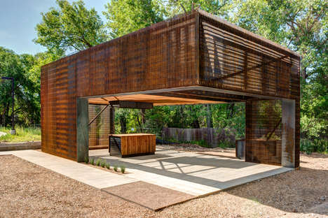 Steel Outdoor Learning Centers - The Colorado Building Workshop Presents a Space for Education