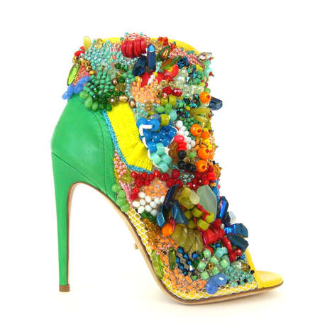 Jeweled Opulence Stilettos - These Juda Heels by Jerome C. Rousseau Are a Limited Edition Item