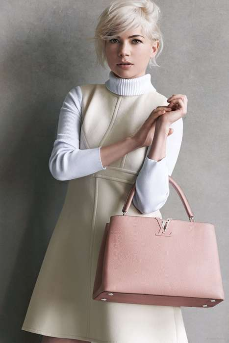 Platinum Blonde Purse Campaigns - The Latest Michelle Williams Louis Vuitton Ads are Utterly Chic