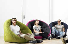 Adaptable Sofa Seats - The Nest Chair Can Creatively Change Form in Varying Situations