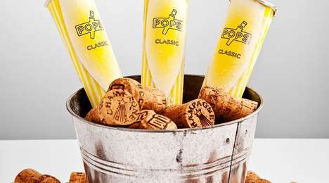 Champagne Ice Pops - POPS' Decadent Popsicles Are Made with 37% Champagne