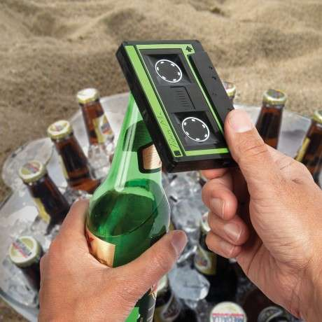 Vintage Tape Bottle Poppers - The Cassette Bottle Opener is Perfect for Retro Music Fans