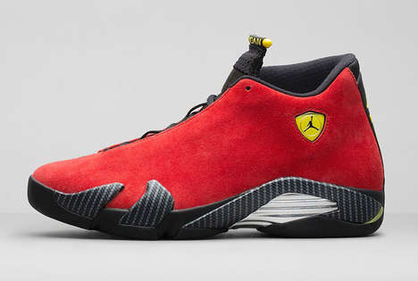 Auto-Inspired Shoes - The 'Air Jordan 14 Retro Challenge Red' Kicks Take Tips from Ferrari