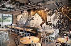 Ancient Art Restaurant Interiors - The Beef & Liberty Restaurant Contains Medieval-Inspired Art